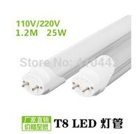 Free Shipping 25PCS/lot LED T8 25W 1200mm Tube Lamp Light Top Quality 3014 SMD 240LED  AC85V-265V Cold White/Warm White CE&RoHS