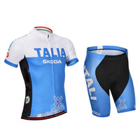 SWODART 2014 black and blue sportwear ciclismo  top bicycle Clothing suits  for Men or womens +bibs shorts