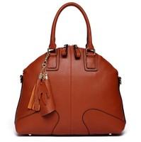 HOT!New 2014 fashion women genuine leather handbags famous brand cowhide handbag one shoulder bag messenger bag tote 5 colors