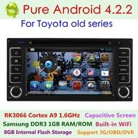 Pure Android 4.2.2 Car DVD Toyota Hilux 2001- 2011 Echo Vitz Fortuner Innova Vios RAV4 Capacitive 3G Wifi Dual Core1.6 GHz Radio