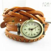 20% off PB018 Vintage Watch Long leather Strap Casual Watches Rivet Analog dress watch Bronze quartz watches,wristwatches