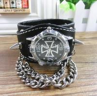 15% off PB017 Vintage Watch Long leather Strap Casual Watches Rivet Analog dress watch Bronze quartz watches,wristwatches