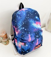 2014 Women printing backpack Galaxy Stars Universe Space  School Book Campus student Backpack  British flag  bag free shipping