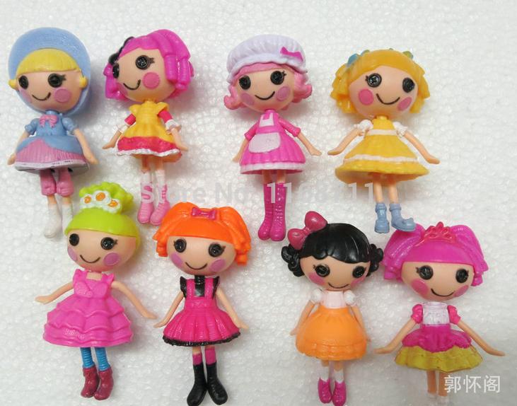 2014 New 8cm MGA mini Lalaloopsy Doll the bulk button eyes toys for girl classic toys Brinquedos 8pcs/lot(China (Mainland))