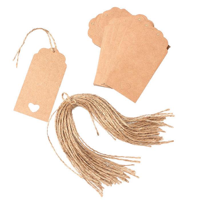 rectangle shape design 50 pcs brown papier kraft 233 tiquettes de coup de soir 233 e de mariage favor