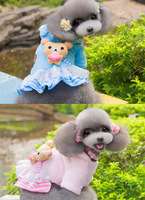 FLEECE   cute bear Pet Clothes pupy SOFT WARM  Wholesale  and Retail Clothes Free Shipping