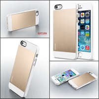 New! Spigen SGP Slim Saturn Case For iphone 5 5S 5G Cellphone Cover PC+Metal Bag Retail  AAA01588