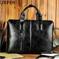 spring 2014 portfolio ZEFER brand bags,Laptop bag,men messenger bags,genuine leather bags,men's briefcase,khaki,black