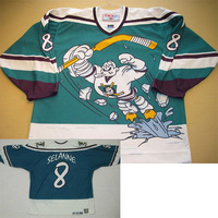 #8 Selanne Customize Throwback Anaheim Mighty Ducks 95-96 Alt Wild Wing jersey - personalized ICE Hockey Jersey Number & Name