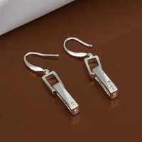 Free Shipping Wholesale 925 Sterling Silver Earring,925 Silver Fashion Jewelry,Stell Srop Earrings SMTE440