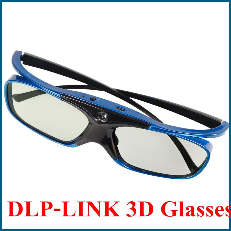 3d glasses Active shutter rechargeable dlp new 2014 for DLP LINK 3d glasses dlp video Projector Acer,BenQ,Vivitek,Optoma(China (Mainland))