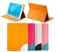 "iKare brand Rainbow Series Luxury leather case cover pouch skin for iPad Air 9.7"" 1pcs/lot with retail packing free shipping"
