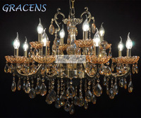 HOT! Free Shipping 12 Arms Luxury Chandelier Crystal Light with K9 Crystal and Zinc Alloy Arms (A CLRB8039-12) D820mmXH700mm