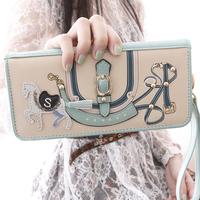 NEW 2014  wallet female ribbon long design women large zip wallet female wallet purse q179 FREE SHIPPING