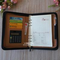 Loose-leaf commercial zipper bag laptop a5 notepad tape calculator manager folder logo