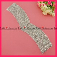 New Arrival Free Shipping Crystal Rhinestone Applique Patch  WRA-407