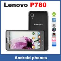 Lenovo P780 5.0 inch Quad Core MTK6589 CPU Dual Sim mobile phone 4000mAh 8Mp 1GB RAM Android 4.2 Original