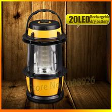 New 2014 Portable 20 LED Lantern Camping Camp Fishing Outdoor Bivouac Light Lamp Dimming Yellow Tent Camp Light Lamp(China (Mainland))