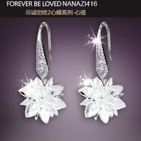 2014 Fashion Modish Women Drop Earrings, Pure Sterling 925 Silver Earings, Wedding Earring-Stud Jewelry Accessory