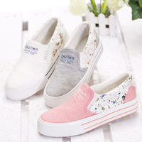 medallion lace designer summer sets foot pedal girls casual canvas shoes Korean version of the influx of students floral shoes