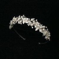 New Handmade Bridal Rhinestone Headband Pearls Crystal Wedding Headband HeadPiece For Bride Hair Jewelry Accessories WIGO0274