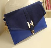 2014 NEW Vintage Envelope Letter Bag Evening Day Clutch Women Pu Leather Messenger Bag Shoulder Handbags For Female Brand