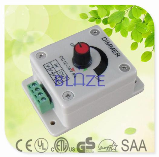 100pcs/Lot Led Dimmer 12V 24V 8A 96W Adjustable Brightness Controller LED Dimmer(China (Mainland))