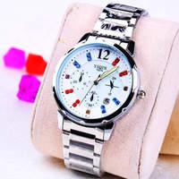 Fashion Stainless steel Strap Quartz Men luminous watch  ,Men Dress Wrist watch with Calendar Date , 30M Waterproof  167859