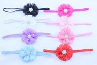 30pcs Chic Chiffon Flower Baby Girl Headbands Headwear Multi color Apparel Accessories