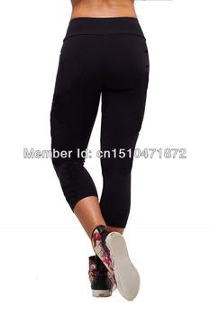 2014 новый высокая эластичность фитнес одежды спортивной йога тренажерный зал шорты для женщин леггинсы брюки капри сердечно тонкие threequarter