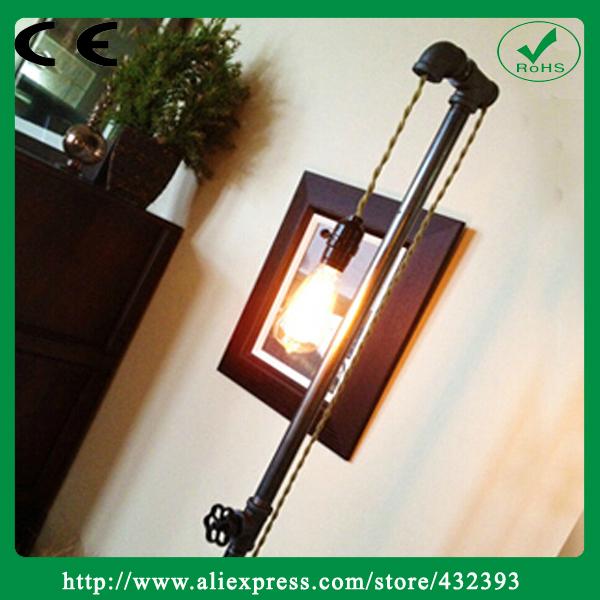 Americano do Vintage de ferro tubulação de água de Design Loft Edison lâmpada Industrial candeeiros pe E27bulbs 40 W luzes de pesca(China (Mainland))