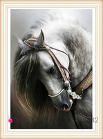 2014  new needlework  diamond painting pasted painting full drill diamond painting fashion wall decorative  horse free shipping