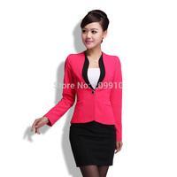polychromatic Spring women Skirt suits fashion classic Elegant Frock work wear beauty work wear Clothing 2014  Fashion