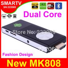 Discount CYX-802 2014 New Android TV Box Dual Core RK3028A Mini PCs Smart TV Sticks Media Player Bluetooth XBMC MK808 Chromecast