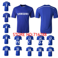 Pre Sale NEW Chelsea 14/15 Season Home Soccer Jersey Thailand Quality Football Shirt Chelsea 2015 Jersey 17 HAZARD OSCAR LAMPARD