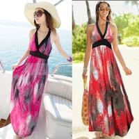 Summer ultra long one-piece dress beach dress bohemia beach suspender skirt full dress one-piece dress