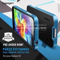 Luxury Hybrid Hard Back Cover TPU Case + Plastic Frame For Samsung Galaxy S5 i9600 Accessories Tough Slim Armor Spigen Neo 1PCS
