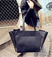 Free shipping 2014 new arrival ladies handbags two zipper foldable bag sac main high quality handbags designers brand