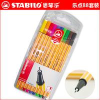 Stabilo pen tenuity 88 pen multicolour hook line pen Free Shipping (Pack of 10 Pcs)