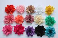 2014 wholesale   fabric flower for headband DIY flowers Satin Ribbon Multilayers Flowers baby girls hair accessories100pcs/lot
