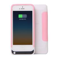 2200mAh Carregador De Bateria Portatil For  iPhone 5/5S Rechargeable  Battery Pack With Charger Case Power Bank  Backup Power