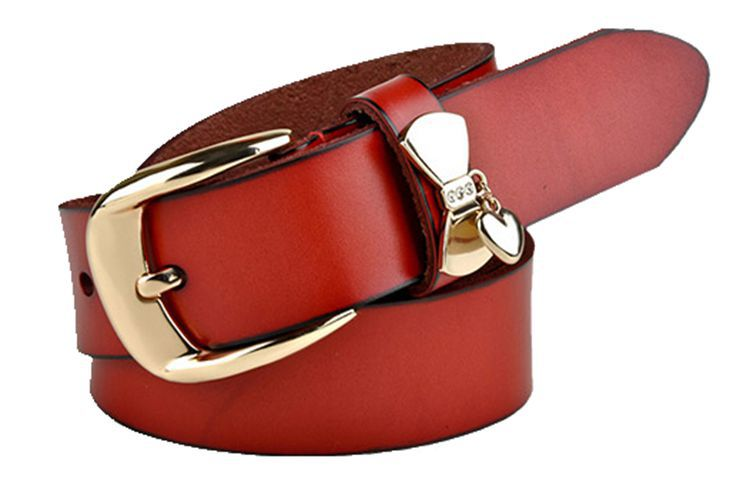 Genuine leather strap Women casual first layer of cowhide pin buckle trend women's belt fashion all-match women's belt(China (Mainland))