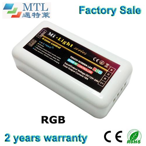 2.4g 4- Zona rf rgb controller led per striscia mi- serie leggera, 10 pezzi/lotto, un telecomando controlers partita multi, ingrosso fabbrica