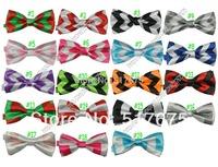 Free shipping New hotsale chevron zig zag bow tie baby/kids/children bowtie neck tie Boys Girls tie 20pcs/lot