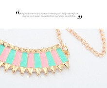 Korean fashion hit color crescent wild collar necklace for women 2014 choker jewelry accessories colares femininos