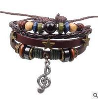 Q3514  Qi Connaught new note bracelet braided bracelet three stars Accessories  B4