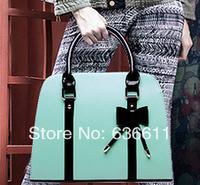 Fashion women clutch 2014 women's leather handbags high quality bow desigual bag for women messenger bag bolsas  femininas