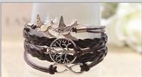 European and American retro bracelet tree of life and birds Alloy Bracelet