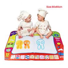 versandkostenfrei, aqua doodle kinderzeichnung spielzeug matte magic pen bildungseinrichtungen spielzeug 1 mat+ 2 Wasser zeichenstift Größe 80*60cm ht348(China (Mainland))