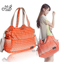L0010 New Fashion 2014 Multifunctional Nappy Mummy Bag Maternity Handbag Diaper Bags Baby Tote Organizer Hot Sale